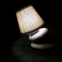 BoGaLeCo.com / Ligths / Lamps / reclaimed wood / Leaning roller lamp