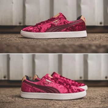 Best Online Sale PUMA Suede Clyde x Extra Butter Casual Shoes Red Sport Shoes - 362320-01