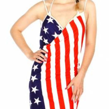 Bikini Wrap - US Flag One Size Fits Reg and Plus Sizes