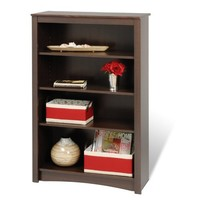 Espresso 4-shelf Bookcase