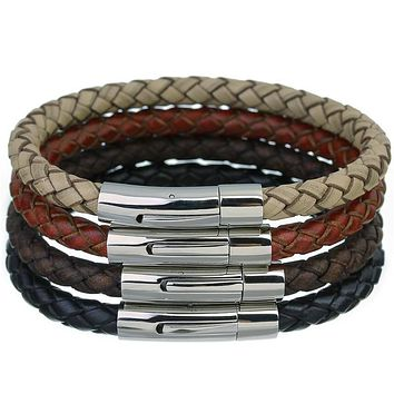 Retro Vintage Genuine Braided Leather Bracelet