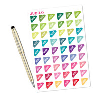 Planner Stickers - Work Stickers Scalloped Corner - Fits Any Planner