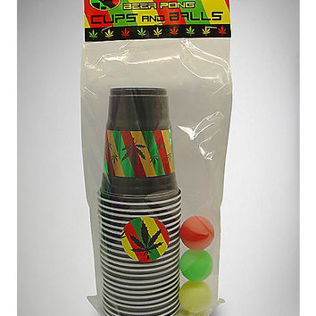 Rasta Leaf Cup & Ball Kit - Spencer's
