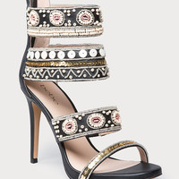 bebe Womens Lolana Beaded Sandals