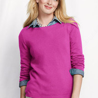 Women's Year Round Cashmere Balletneck Sweater from Lands' End