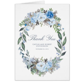 Dusty Blue Flowers Wreath