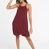 Suspended-Neck Swing Dress for Women |old-navy