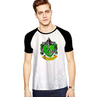 SLYTHERIN CREST For Short Raglan Sleeves T-shirt, Red Tees, Black Tees, Blue Tees