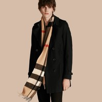 Mens/womens Burberry Large classic cashmere scarf in Check Camel 200 x 36.