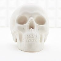 Chalk Skull Money Bank in White - Urban Outfitters