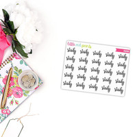 QUARTER SHEET - Study Script Planner Stickers for the Erin Condren Life Planner, Script Sticker, Script Planner Sticker - [P0249]