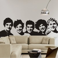Aspire One Direction Decal Stickers, One Direction Band Wall Stickers