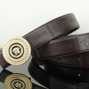 Versace women men medusa belt golden