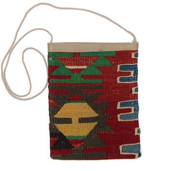 Jacquline Red Gaia Pattern Kilim Bag
