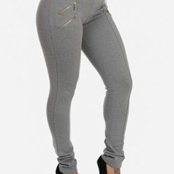 Grey Skinny High Waisted Pants