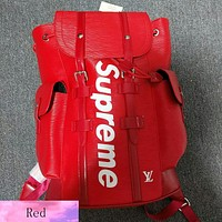 Trendsetter Louis Vuitton X Supreme Casual Shoulder Bag School Backpack Travel Bag