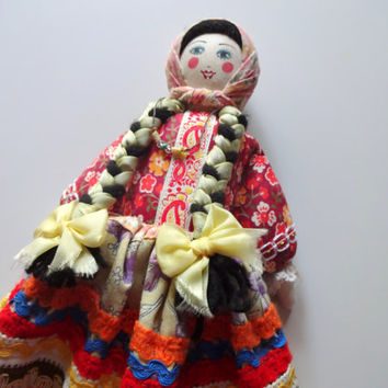 Vintage Handmade Russian Cloth Doll