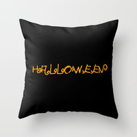 Halloween I Throw Pillow by oldking