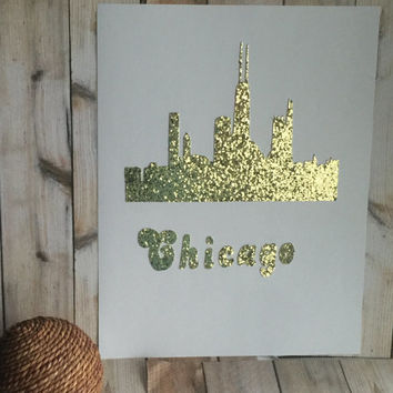 "Print Wall art Quotes ""CHICAGO SKYLINE"""