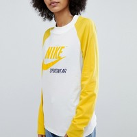 Nike Archive Raglan T-Shirt In Yellow at asos.com