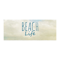 "Iris Lehnhardt ""Beach Life"" Beach Blue Bed Runner"