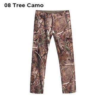 High Quality Shark Leather Men Camo Pants Waterproof Tad Softshell Outdoor Hiking Pants Men Camping Pants 11 Colors