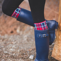 Live For Rain Tall Buckle Rain Boots (Navy)