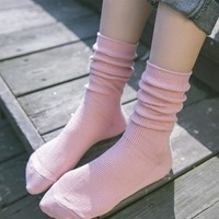 Vintage Winter Cotton Socks 5 pairs/set [10383511308]