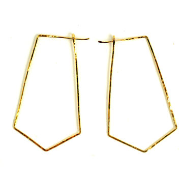 Geometric Arrow Hoop Earring