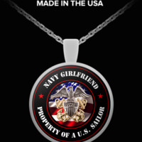 Military - Navy Girlfriend - Property of a U.S. Sailor - Necklace