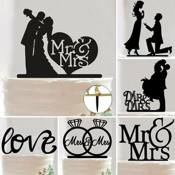 1pc Wedding Theme Cupcake Cake Topper