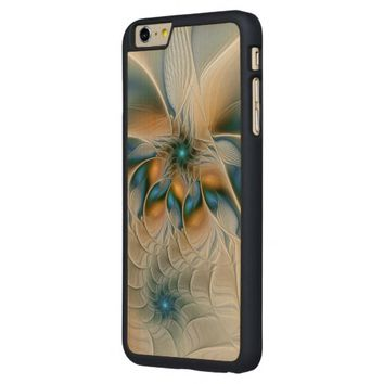 Soaring, Abstract Fantasy Fractal Art With Blue Carved® Maple iPhone 6 Plus Slim Case