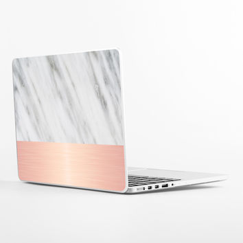 Pale Pink on Marble Laptop Skin