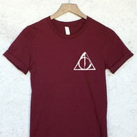 Deathly Hallows Pocket Shirt in Maroon