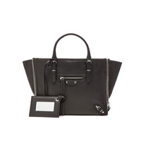 Balenciaga Papier Zip Around Mini in Black | FWRD