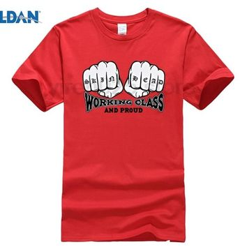 GILDAN 2018 Men's Skinhead Fist Tattoo Working Class & Proud Mod Ska Punk Music T Shirt New Metal Short Sleeve Casual Tee Shirt