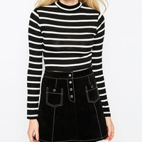 Brave Soul Long Sleeve Striped Top