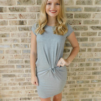 Knot It & Go Heather Gray Dress