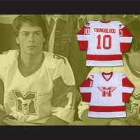 MUSTANGS Hockey Jersey Youngblood Movie Rob Lowe Sewn New All Sizes
