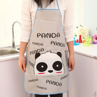 1X Cute Kawaii cartoon PVC Waterproof Apron Kitchen Accessories House Cleaning House Keeping Anti Dust