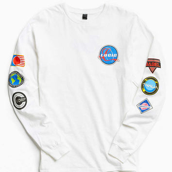 Logic Space Patches Long Sleeve Tee - Urban Outfitters