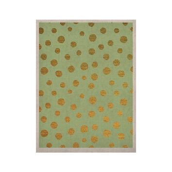 """Nika Martinez """"Golden Dots and Mint"""" Green Gold KESS Naturals Canvas (Frame not Included)"""