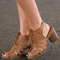 Outta Sight Heels, Tan