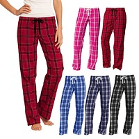 XtraFly Apparel Women's Flannel Plaid Pajamas PJ Basic Casual Sleep Lounge Pants