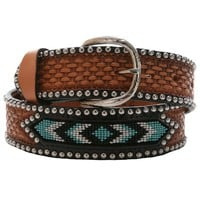 Double J Saddlery Aztec Basket Weave Belt