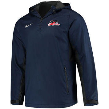US Hockey Nike Quarter-Zip Pullover Jacket – Navy