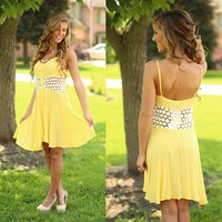Sunny Meadow Dress in Yellow