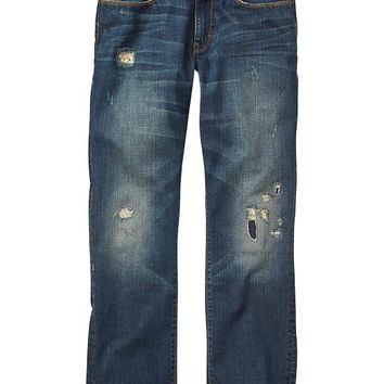 Gap Men Factory Destructed Straight Fit Jeans