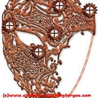 steampunk copper filigree masquerade mask clipart png mardi gras Digital instant Download printable art Image graphics venetian masks craft