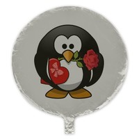 Lovely Valentine Penguin Balloon
